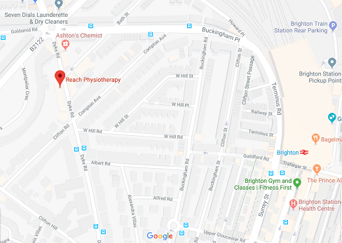 map reach physiotherapy brighton